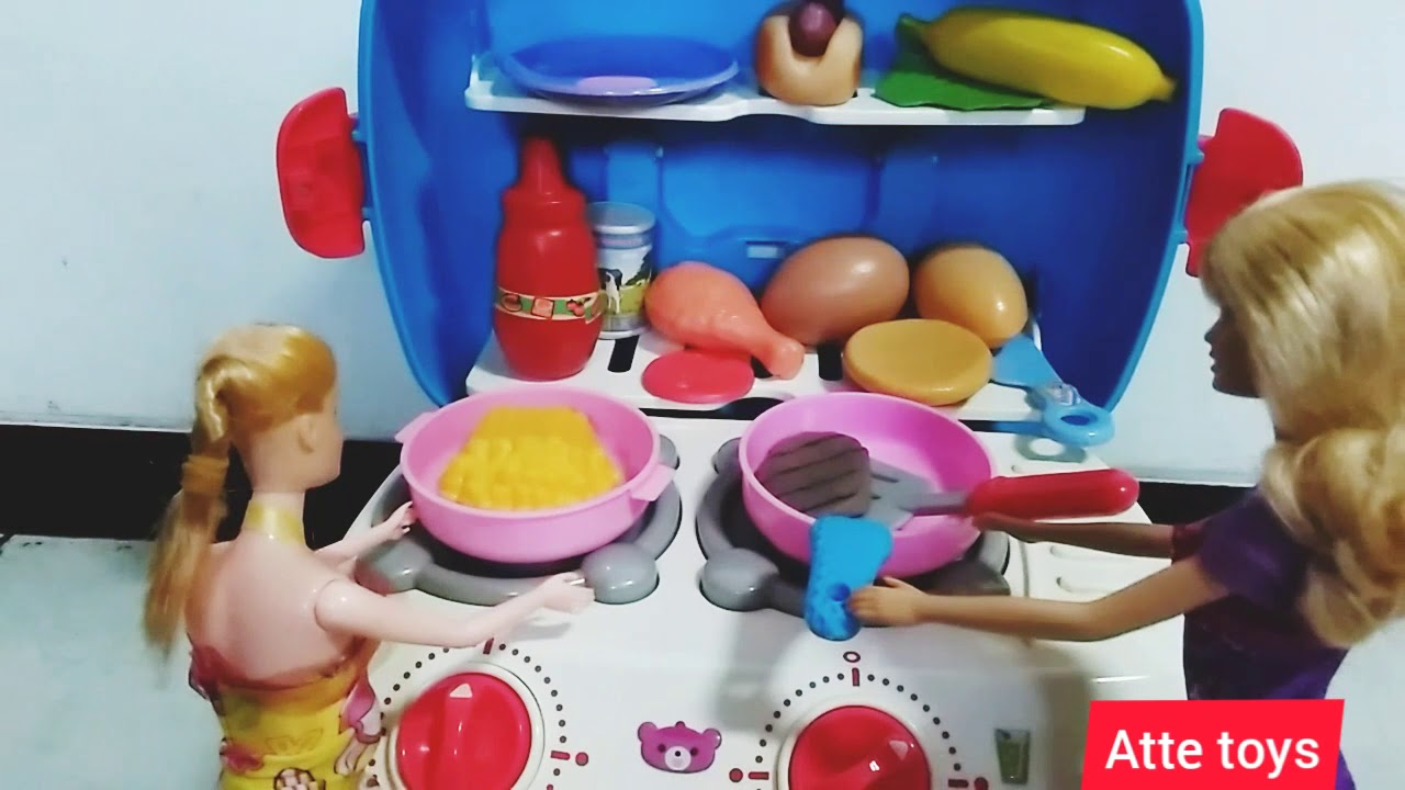 Barbie Hamil Belanja Barbie Masak Mainan Anak Perempuan Main Masak Masakan Masak Apa Ya Youtube