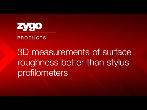 Optical profiler | 3D measurements of surface roughness better than stylus profilometers