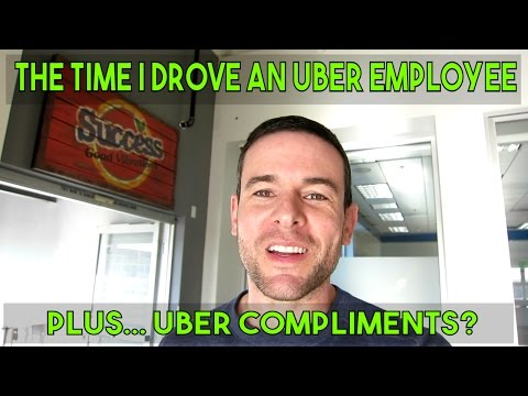 THE TIME I DROVE AN UBER EMPLOYEE | Plus Uber's New Compliments Feature