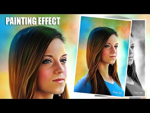 Digital painting effect in photoshop - photoshop tutorial