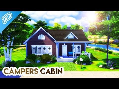 CAMPERS CABIN! ⛺️🔥 // The Sims 4: Speed Build thumbnail