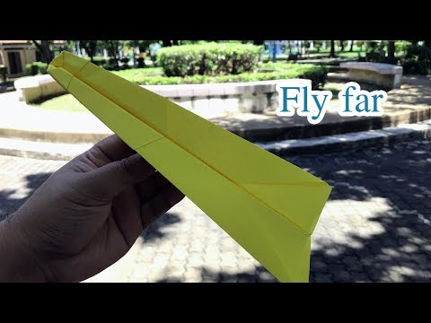 How to make a paper airplane - Fastest Flying Paper Airplane Tutorial #21