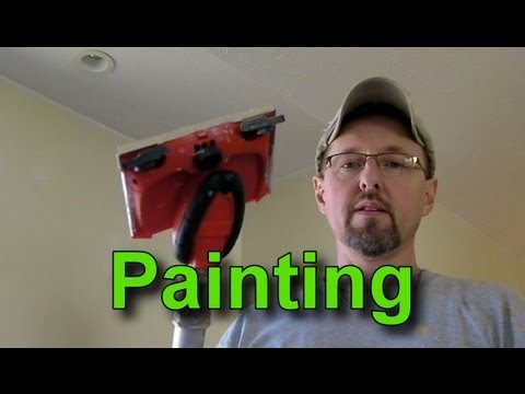how to use a paint edger and paint a wall with a vaulted ceiling ...