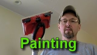 How to Use a Paint Edger and Paint a Wall with a Vaulted Ceiling