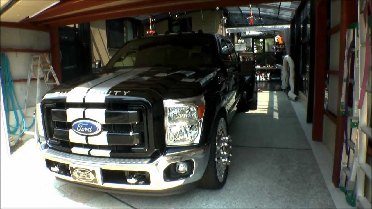 2012 ford f 350 crew cab super duty drw 6 2l djm gibson american force on26 s monroe leer recon youtube