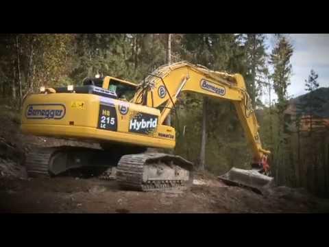 Komatsu HB215LC-1 Hybrid Excavator