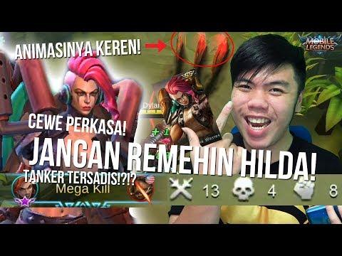 Nyoba SKIN Hilda Terbaru KEREN SANGAT! Tanker TERSAKIT? - Mobile Legends Indonesia #21