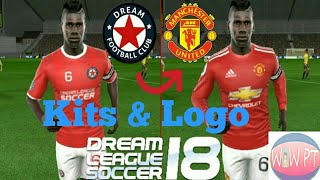 How to create Manchester United Kits & Logo - Dream League Soccer 2018