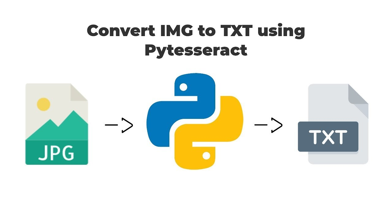 Extract Text From Image Python - Pytesseract