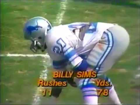 1980 09 07 Detroit Lions vs Los Angeles Rams Billy Sims NFL Debut  free shipping
