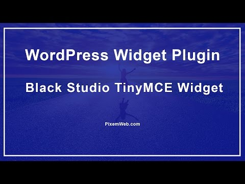 WordPress плагин black studio tinymce widget