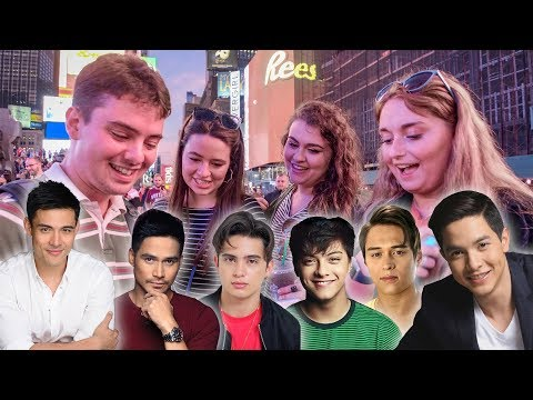 American Girls Pick the Most Handsome Filipino Celebrity?!