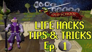 (GIVEAWAY) Best OSRS Life Hacks & Tips + Tricks