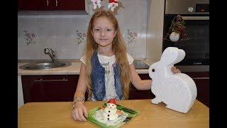 Закуска Снеговичок.Рецепт. Видео для детей.Дети готовят.