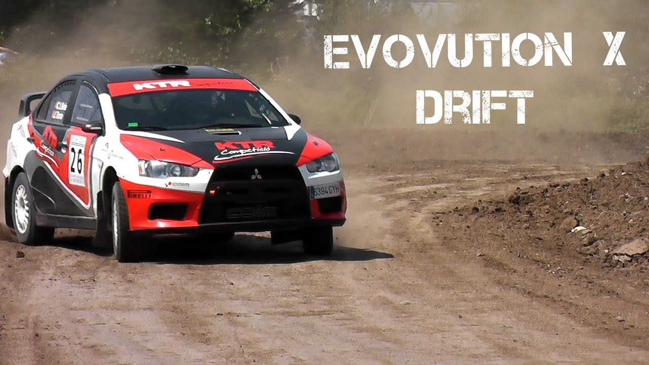 MITSUBISHI EVO Rally Car Drift - YouTube