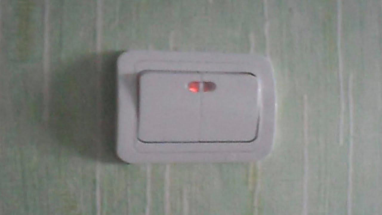 (makel) Установка двойного выключателя с подсветкой + схема