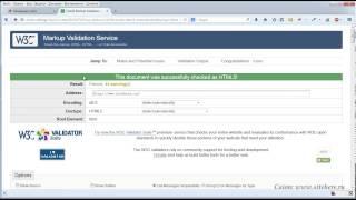 валидация сайта с помощью сервиса validator.w3.org