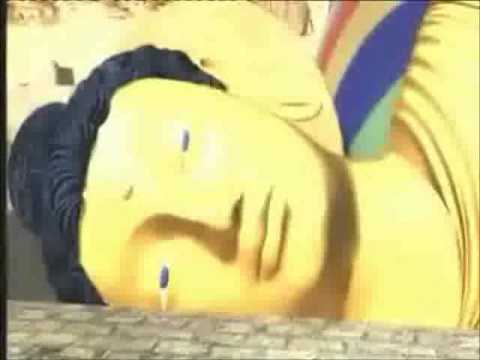 Afghanistan Taliban Muslims destroying Bamiyan Buddha Statues.