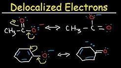 Delocalized vs Localized Electrons, pKa, Acidity, Conjugate Base, Resonance Hybrid and Contributors