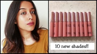 NEW SHADES LAKME 9 TO 5 WEIGHTLESS MATTE MOUSSE LIP AND CHEEK COLOR II ALL SHADES SWATCHED II