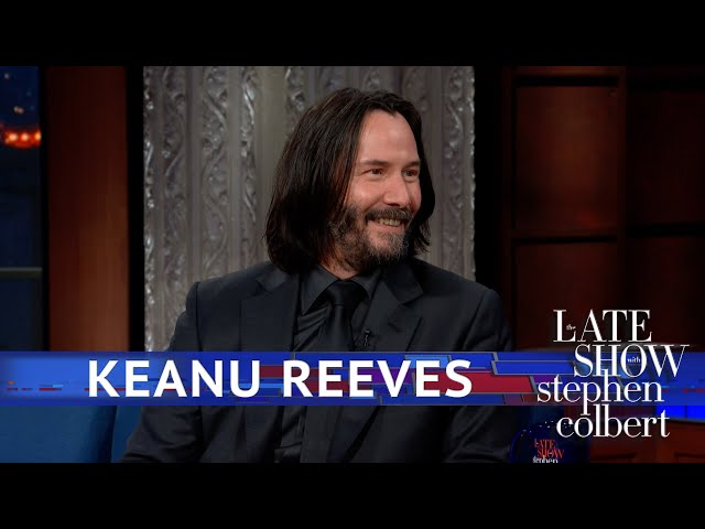 Image result for Keanu Reeves Leaves Colbert Speechless With An Incredible Reflection On Death