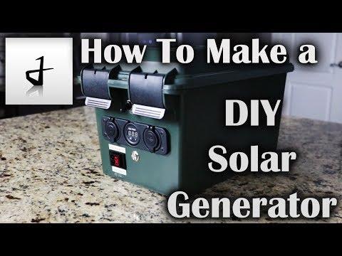 How to Make A DIY Portable Solar Generator