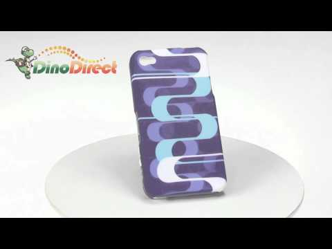 Sigmoid Curve Pattern Hard Plastic Skin Cover Case Protective for iPhone 4  from Dinodirect.com