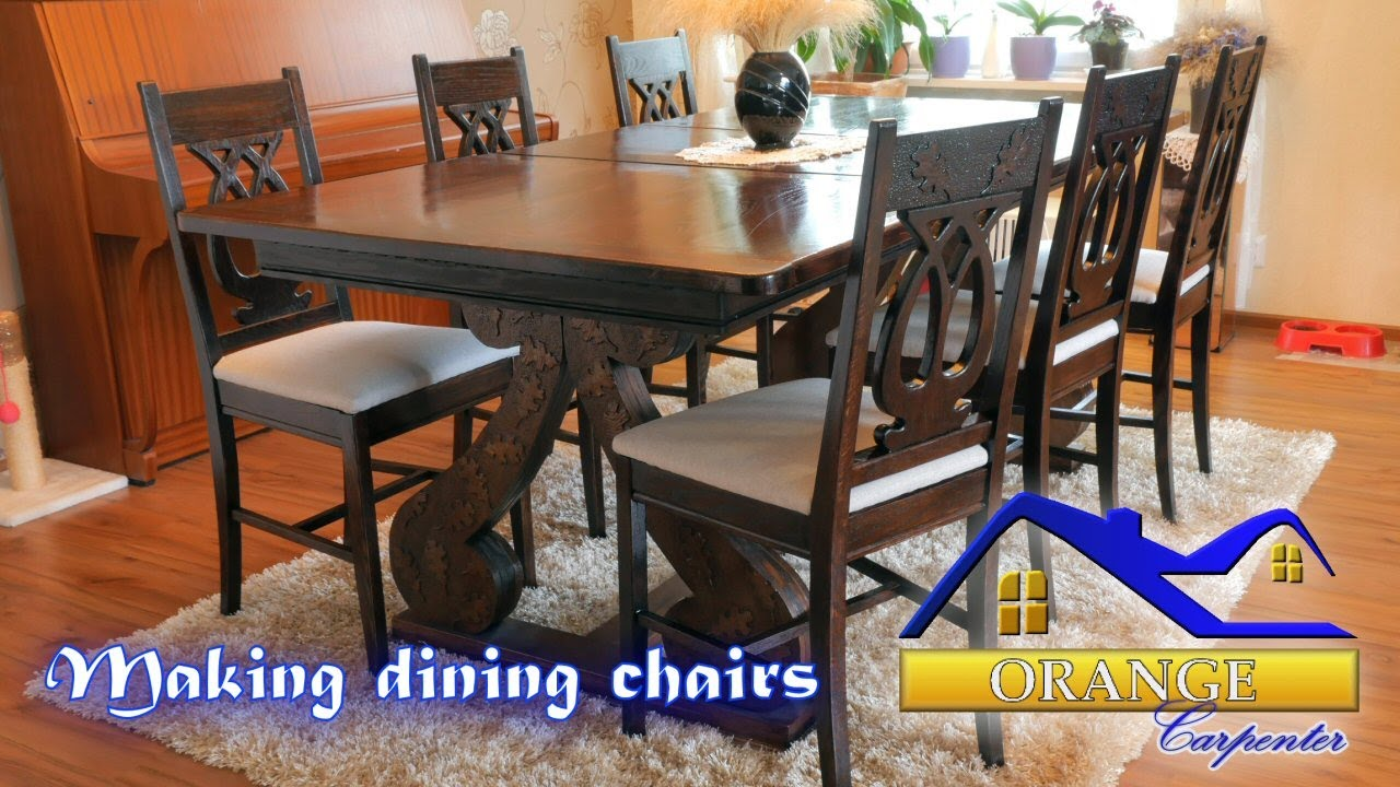 Making Dining Chairs From Oak Boards. Orange Carpenter
