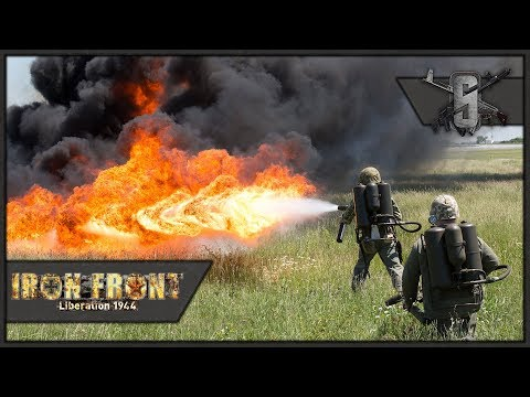 Flamethrower Gameplay & Pacific Naval Landing - ArmA WW2 Mod - US Marines