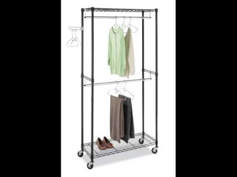 Portable And Expandable Garment Rack In Black Chrome 18 Months Best Whitmor 60 60 BB Supreme Double Rod Garment Rack Black YouTube