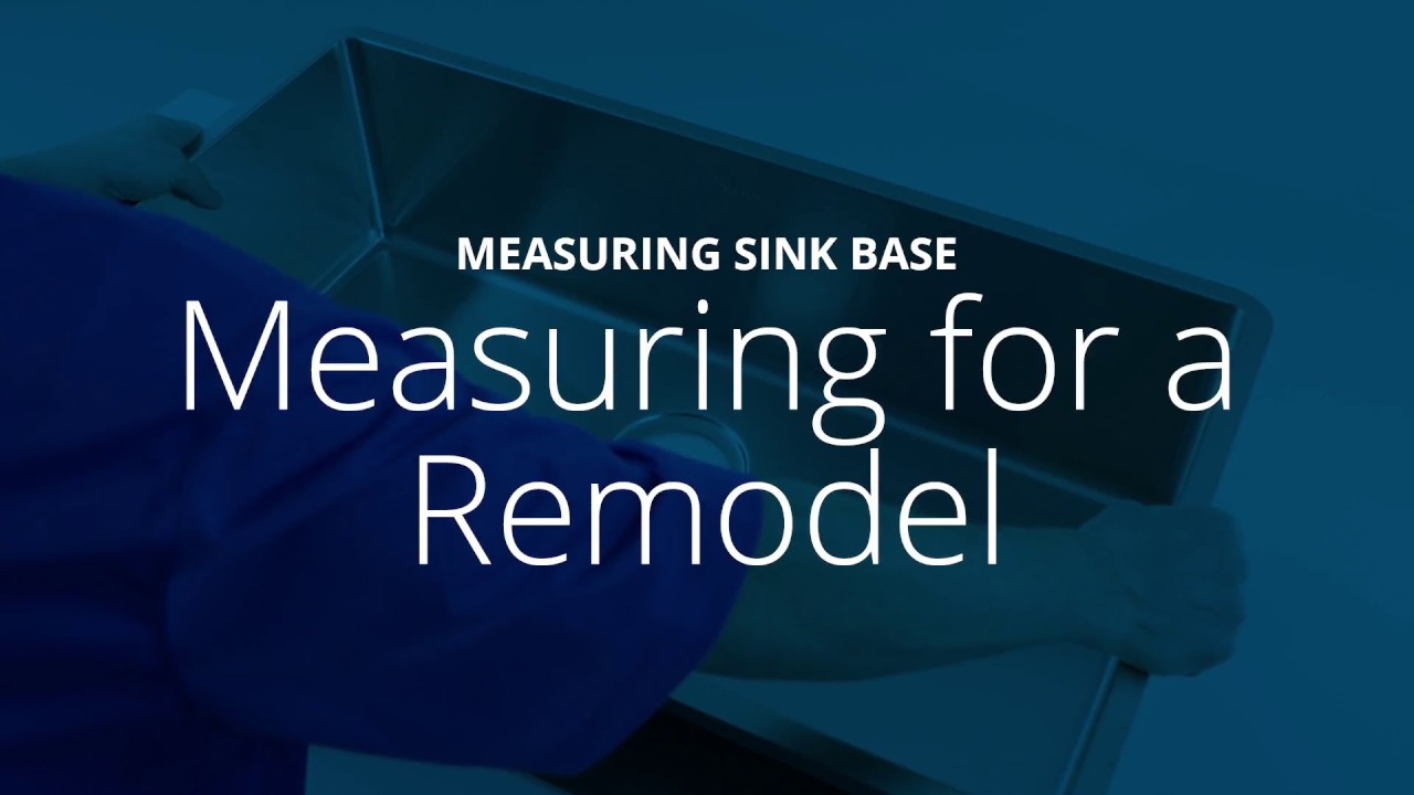 How To Measure A Sink Base For Elkay Installation Youtube