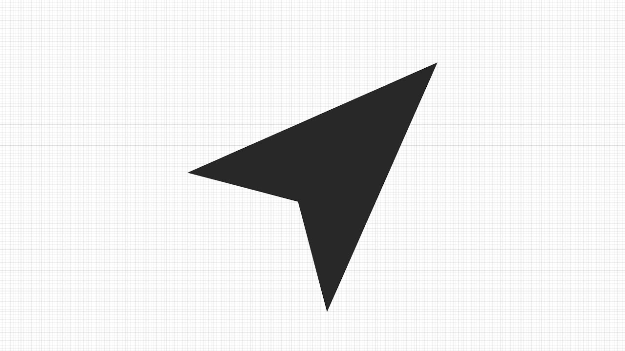 How to draw Location Arrow Icon Vector in App GRAPHIC for ...
