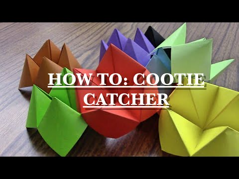 how to make a cootie catcher youtube. Black Bedroom Furniture Sets. Home Design Ideas