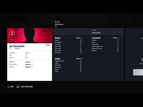 NHL 18 - Created Missing Players & Prospects