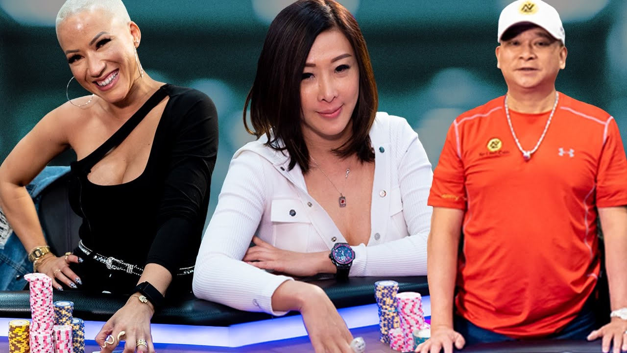 Johnny Chan, Ebony Kenney & Kitty Kuo Play Action Cash Game [Poker Highlights] ♠ Live at the Bike!