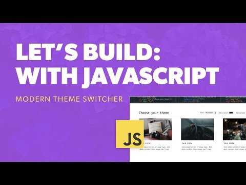 How to code a Theme Switcher with Vanilla JavaScript thumbnail