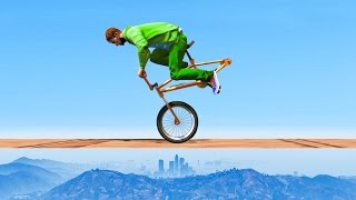 IMPOSSIBLE BMX STUNT RACES! (GTA 5 Funny Moments)