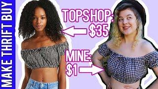 DIY Off Shoulder Crop Top | Make Thrift Buy #57