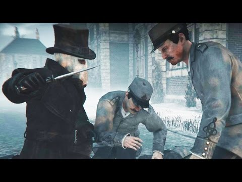 Assassin's Creed Syndicate - Jack The Ripper Brutal Knife Finishing Moves in Lambeth Asylum