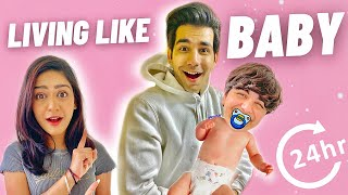LIVING LIKE BABY FOR 24 HOURS | Rimorav Vlogs