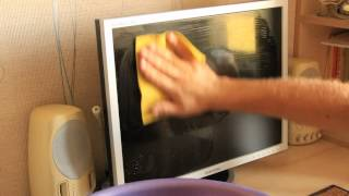 Чистка монитора.  Как отмыть жирные пятна. Cleaning the monitor How to clean the grease spots(, 2015-08-05T11:01:54.000Z)