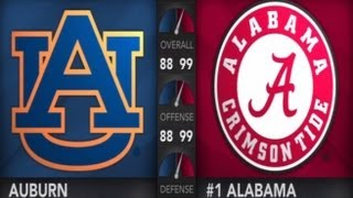 The Iron Bowl - Auburn Tigers vs Alabama Crimson Tide - 1st Qrt - NCAA College Football 14 - HD