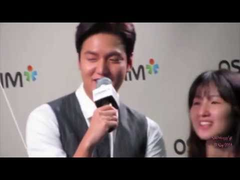 Lee Min Ho @ OSIM Event in SG - 27 Sep 2014