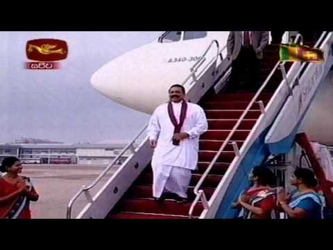 H.E the President Arrives Sri Lanka, Received a Hero's Welcome