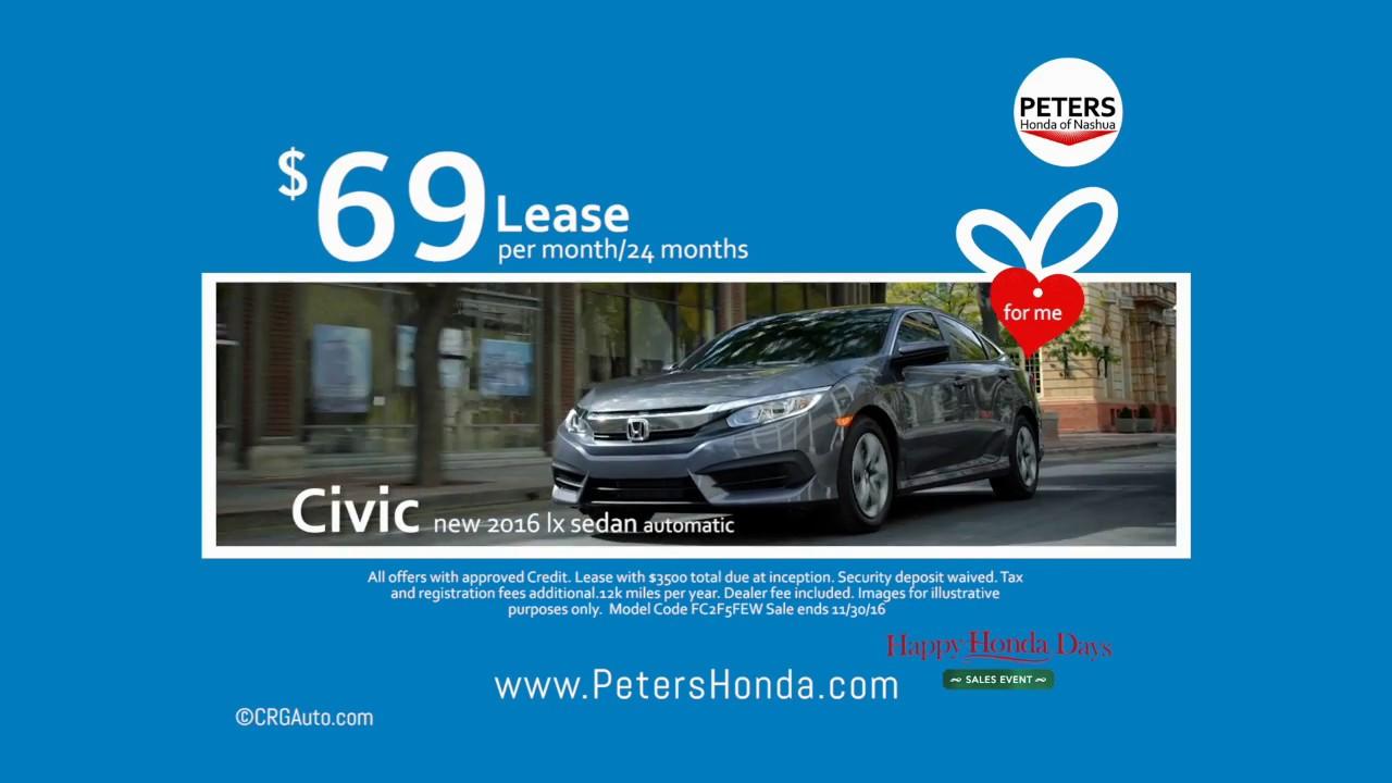 New Honda Civic Black Friday Lease Deal Nashua Hampshire You