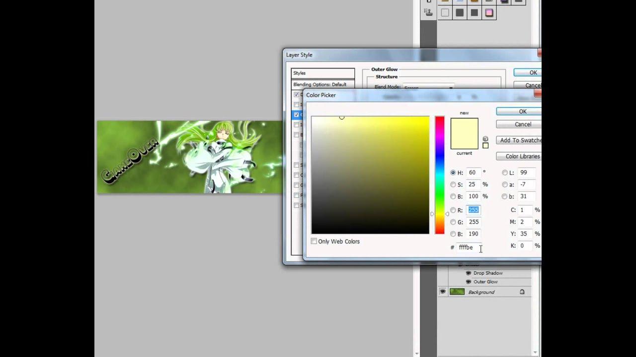 Photoshop cs5 abstract basic signature tutorial [hd] youtube.