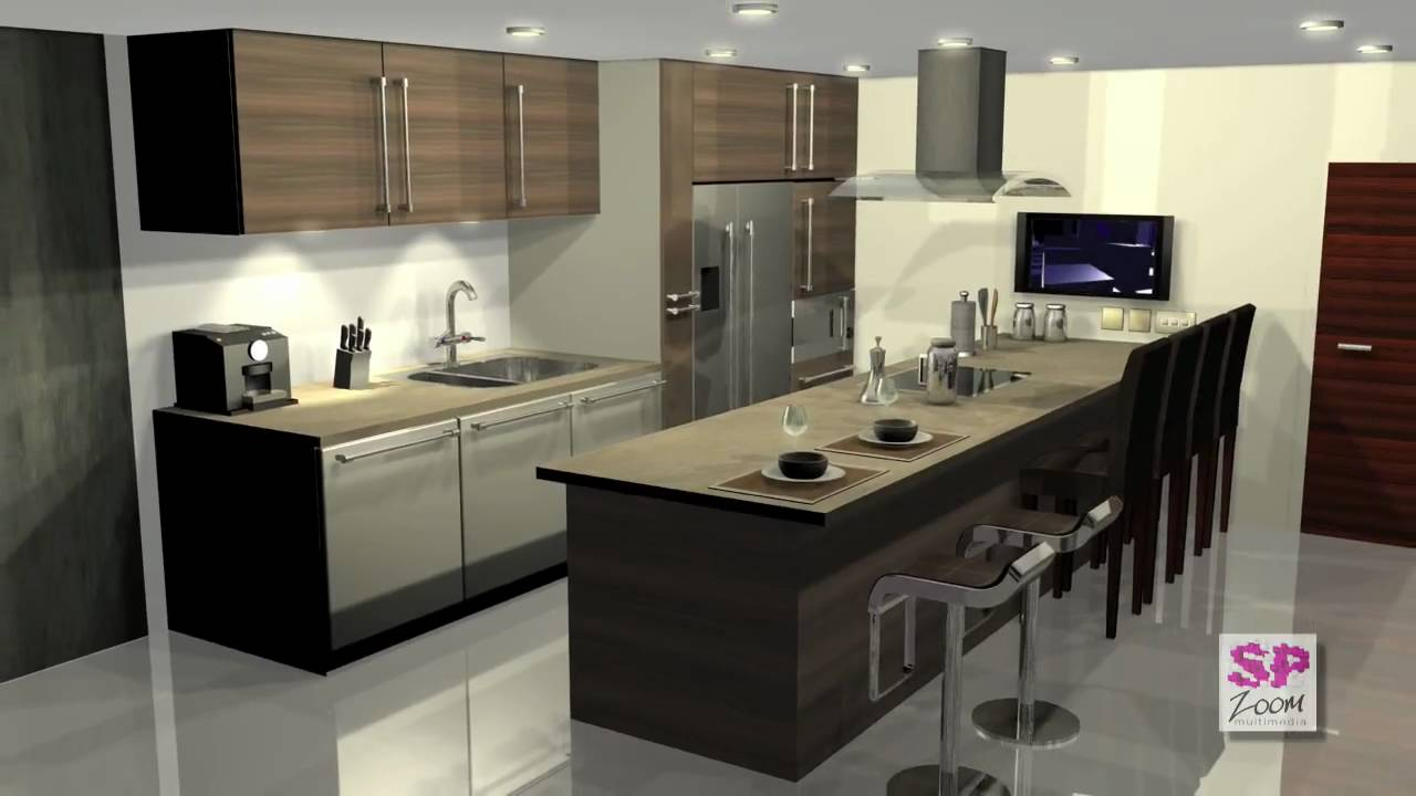 Delicieux 3ds Max: Deluxe Kitchen Filght Through   YouTube