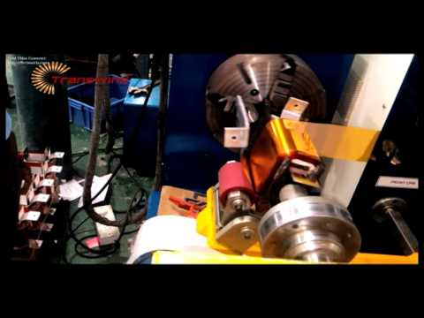 FOIL WINDING MACHINE FOR INDUCTORS AND REACTORS