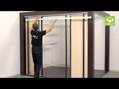 установка подвесной двери аристо