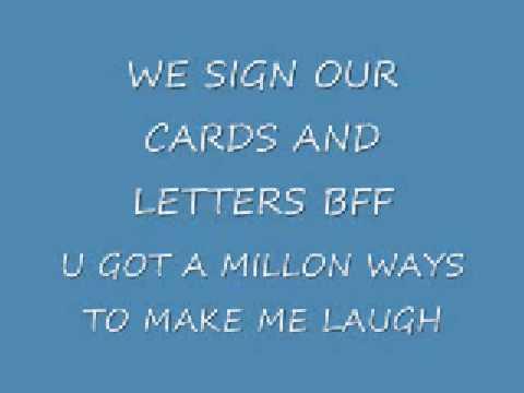lyrics to true friend